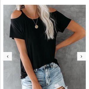 Vici Lovestitch Black Cut out T-shirt